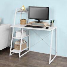Sobuy bois Blanc Maison bureau ordinateur table avec Étagère