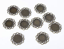 10pcs 30mm Tribal Celtic Antique Bronze Bezel Cameo Pendant Cabochon Setting