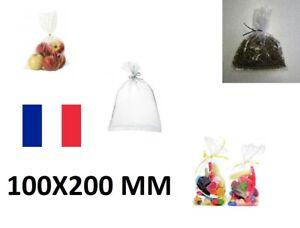 10X Sachet Poche Plastique Alimentaire PEBD 100x200mm 10x20cm Sac 50u