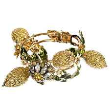 Dolce & Gabbana Runway Daisy Lemon Bracelet Gold Yellow 07549