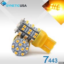 2x 7443/7440AL LED Amber Yellow Front Turn Signal Parking 195LM Light Bulbs