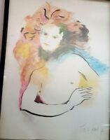 Tana peinture  femme signée Tana . Painting signed Tana