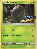 Bulbasaur SM198 Holo Promo Card with Detective Pikachu Stamp (Pokemon TCG)