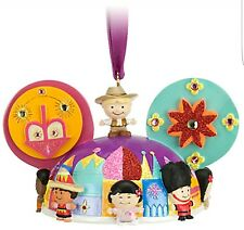 New Disney Parks IT'S A SMALL WORLD Mickey Ear Hat Christmas Ornament