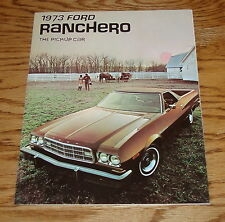 Original 1973 Ford Ranchero Foldout Sales Brochure 73