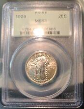 1926 Standing Liberty Quarter PCGS MS63 OGH~ Bright Blazing Luster PQ+~ Free S/H