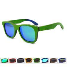 Retro Skateboard Wood Sunglasses Men Women's Wooden Frame Glasses Case Polarized