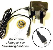 For Samsung Galaxy S4 S3 S6 Note Mini 2 Mains 3-Pin Wall Charger Plug adaptor