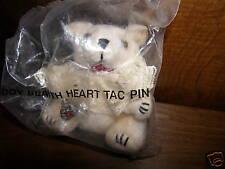 Avon Teddy Bear with Heart Tac Pin New/Rare