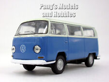 VW T2 (Type 2) 1972 Bus 1/38 Scale Diecast & Plastic Model by Welly - Blue