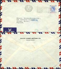 HONG KONG QE2 1961 AIRMAIL $1.30 SOLO FRANKING to SLOUGH GB...WALLEM LAMBERT ENV