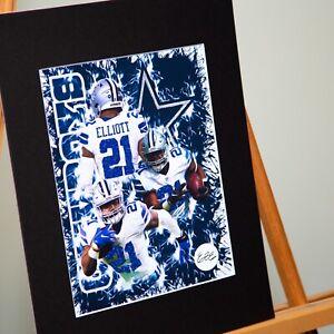 Dallas Cowboys - Ezekiel Elliott #21 - Custom Artwork Available- Handmade