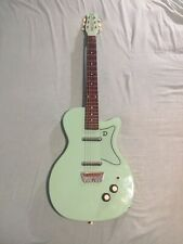 1990's Danelectro 56 U2 Reissue Electric Guitar, Seafoam Green Read Disc.