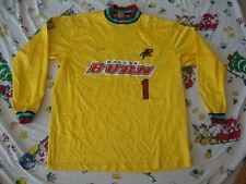 Vintage FC DALLAS BURN Soccer futbol Goalie Yellow RARE Dodo Jersey Men's XL