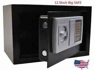 "SAFEGUARD 12.5"" Electronic Digital Lock Keypad Safe Box Cash Jewelry Gun Black"