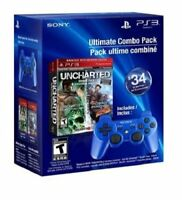 Ultimate Combo Pack: Uncharted Dual Pack & Blue DualShock 3 - PlayStation 3
