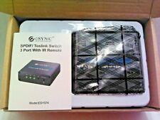 SPDIF Toslink Switch Digital Optical Audio Switcher IR Remote Control ESY074