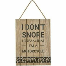 Wooden Motorcycle Decorative Plaques & Signs