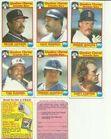 1986 TOPPS QUAKER OATS HOF Reggie Jackson, Dave Winfield, Wade Boggs, Gary Carte