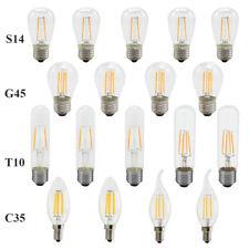Dimmable E14 E27 2/4/6W LED Filament Light Candle Globe Bulb Warm White 220V 12V