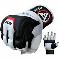 RDX MMA Cowhide Leather Gloves for Martial Arts Training Sparring & Grappling
