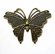 Metal Charms Filigree Butterflies 59x42mm antique Bronze Pkt 5, 10 or 20