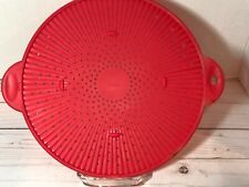 New listing Trudeau Red Silicone Splash Guard, Splatter Screen, Strainer Pre-owned.