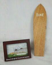 Duke Kahanamoku Wood Surfboard Surf City Station Stamp Cancellation Mini Art