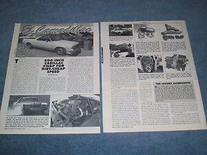 """500-inch Cadillac Engine into 1978 El Camino Tech Article """"El Camadillac"""""""