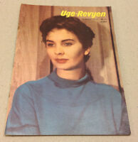 JEAN SIMMONS FOX FRONT COVER JANET LEIGH ADD BACK COVER VTG Danish Magazine 1955