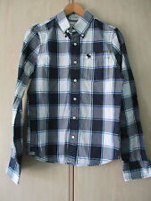 mens ABERCROMBIE & FITCH COTTON BLUE CHECK SHIRT SIZE SMALL MUSCLE FIT