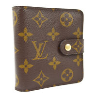 LOUIS VUITTON COMPACT WALLET PURSE MONOGRAM M61667 CA0015 M14916