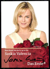 Saskia Valencia Rote Rosen Autogrammkarte Original Sign## BC 4415