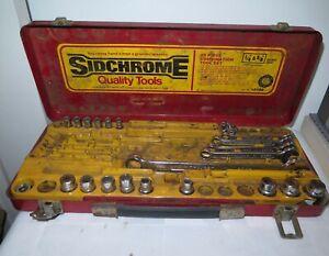 VINTAGE SIDCHROME 53 Piece Combination TOOL SET Box 10189 & 25 PIECES AUSTRALIA