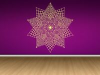 Wall Room Decor Art Vinyl Decal Sticker Mural Abstract Mandala Circle Big AS319