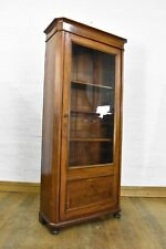 Antique glazed bookcase - display cabinet