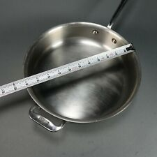 "All Clad 11"" Stainless Steel Saute Fry Frying Pan Skillet"