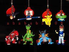 Bandai Pokemon figure keychain Advance Gashapon (full set of 8 keychain figures)
