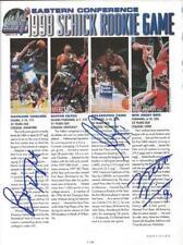 Keith Van Horn Ron Mercer Tim Thomas B Knight Signed 1998 Magazine Page JSA