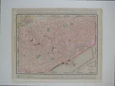Original 1895 Streetcar Map CLEVELAND Ohio Railroads Cemeteries Parks Lake Erie