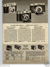 1956 PAPER AD 3 PG Ansco 35MM Camera Karomat Super LVS Regent Speedex Readyset