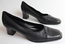 Clarks Cushion Soft Black Leather Shoes Size 6