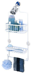 7617WW Over-The-Shower Caddy, White, Large - Quantity 1