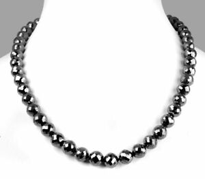 22 Inch BLACK DIAMOND NECKLACE 7mm 250 ct.