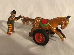 GAMA Germany Wind Up Toy Donkey Cart Working