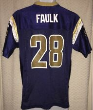 Marshall Faulk St. Louis Rams Jersey Size Youth Large by Reebok, Pre-owned