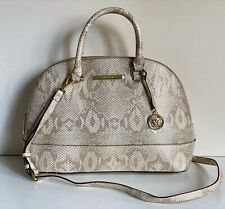 NEW! ANNE KLEIN CLASSIC REVIVAL GOLD CONVERTIBLE DOME SATCHEL CROSSBODY BAG SALE