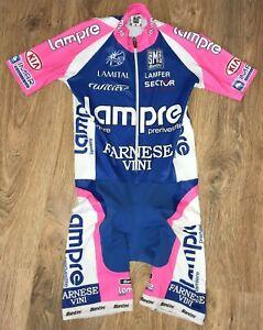 Lampre Farnese Vini SMS Santini rare cycling skinsuit skin speed suit size S