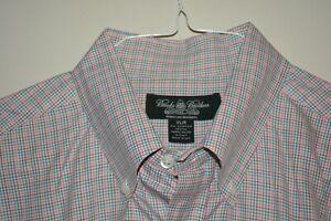 $168 MINT Brooks Brothers Country Club Egyptian Cotton Dress Shirt XL Check