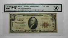 $10 1929 Rices Landing Pennsylvania PA National Currency Bank Note Bill Ch #7090